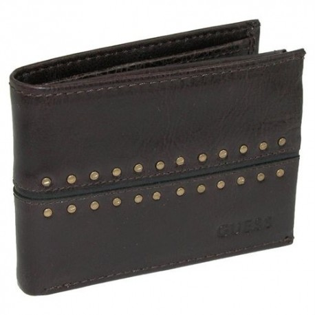Guess by Marciano Man's Wallet dark brown with studs