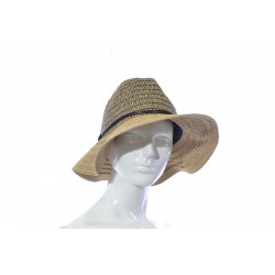 Woman's Fancy Hat Beige Black