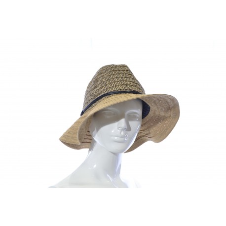 Woman's Fancy Hat  Gold/Beige & Black