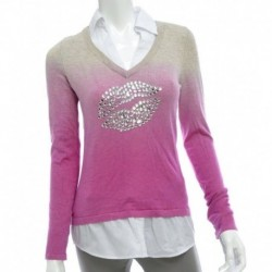 Inc International Concepts Ombre Rhinestone Layered-look Sweather Size S