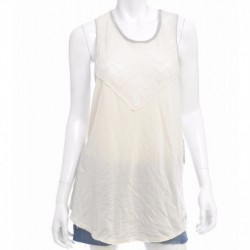 Free People Plated Jersey Bleachers Graphic Tank Size M