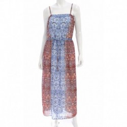 Two By Vince Camuto Paisley Print Sleeveless Maxi Drift Blue Size XS