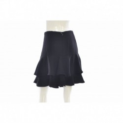 Lauren Ralph Lauren Ruffled Fit and Flare Skirt Black Size L