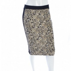 Vince Camuto Animal Rocks Leopard Print Pencil Skirt Beige Size S