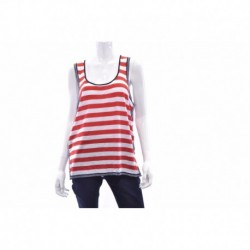 Tommy Hilfiger Striped Red White Casual Two Toned Top X  Size L