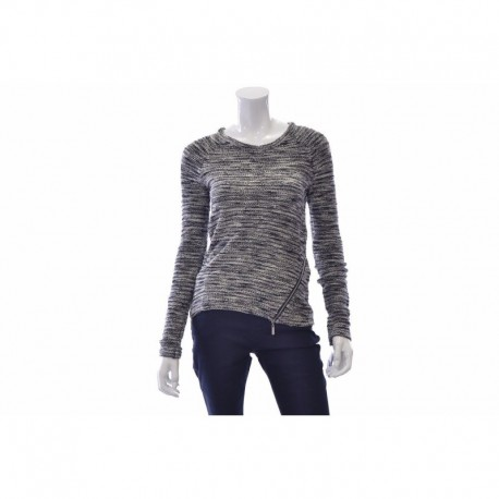 INC Black and White Side Zipper Sweater Size M