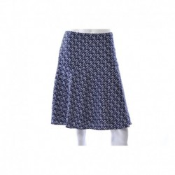 Ralph Lauren Navy/White Printed Fit & Flare Skirt Size S