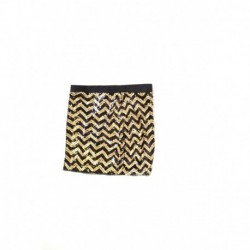 Michael Kors Embroidered Black and Gold Skirt Size M