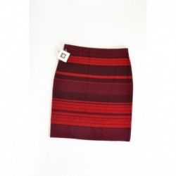 Anne Klein Striped Pencil Sweater Skirt Troubadour Size M