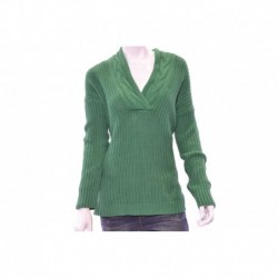 Ralph Lauren Lakeview Green Long-sleeve V-neck Ribbed Sweater Size M