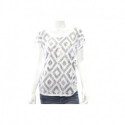 INC Short-Sleeve Sequin Top Size L