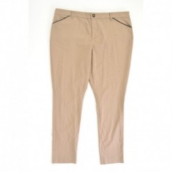 Ralph Lauren Faux-leather Trim Slim-fit Pant Flax Tan Size XL