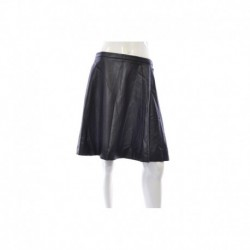 Tahari ASL Faux-leather Skater Skirt Black Size XXL