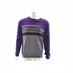 Calvin Klein Blackberry Purple Gray Crewneck Sweater Size XL
