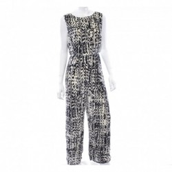 Bar III Printed Gaucho Jumpsuit Size L