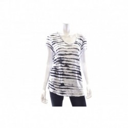 Calvin Klein Jeans Short-sleeve Striped T-shirt White Size M