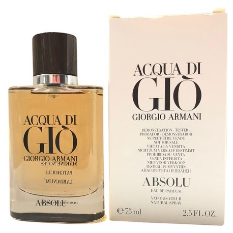 Acqua Di Gio Absolu Eau De Parfum For Men 25 Oz